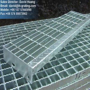 Hot DIP Galvanized Steel Bar Grating Steps pictures & photos