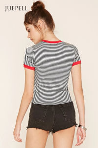 Striped Ringer Tee pictures & photos