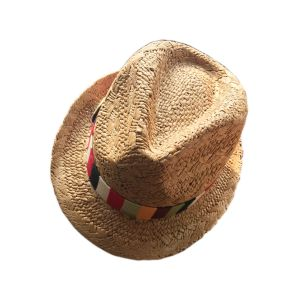 Women′s Fashion with Colorful Woven Hatband Straw Hat pictures & photos