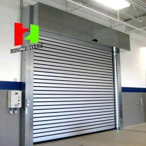 Industrial Overhead Sectional Hard Fast Steel Solid Wood Bathroom Doors (Hz-FC032) pictures & photos