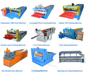 Trapezoidal Roof Tile Steel Sheet Roll Forming Making Machine pictures & photos
