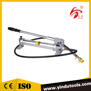 Aluminum Alloy Hydraulic Manual Pump with Pressure Gauge (CP-700AG) pictures & photos
