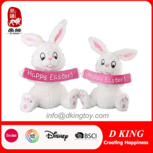 2017 New Design White Easter Rabbit Plush Stuffed Toy Gifts pictures & photos