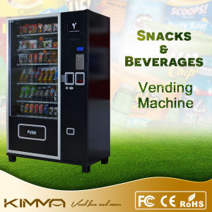 Cold Cans and Popcorn Vending Machine with Coin Acceptor pictures & photos