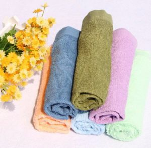 Terry/Terry Velour Plain Color 100% Cotton Face Towel pictures & photos