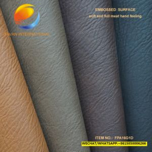 High Quality PU Bag Fabric of Artificial Leather Fpa16g1d pictures & photos