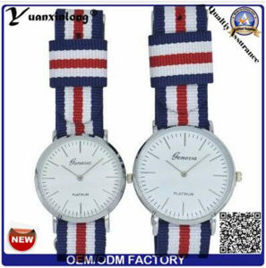 Yxl-546 Japan Quartz Movt and Nylon Strap Simple Style Collection Couple Lover Wrist Watch pictures & photos