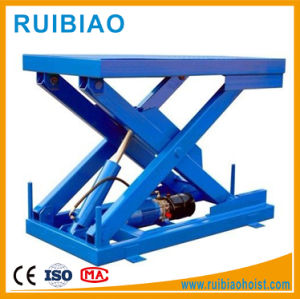 3ton Stationary Electric Hydraulic Work Platform Scissor Lift Table Ce pictures & photos