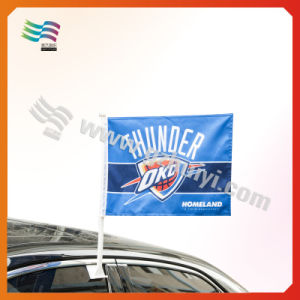 Polyester Digital Printing Car Flag with Both Sided Printed (HYCF-AF018) pictures & photos