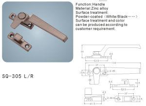 Zinc Alloy Handle for Windows/Doors Hardware (SQ-305 L/R) pictures & photos
