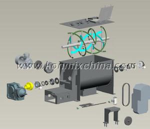 Horizontal Ribbon Blender/Powder Blender/Plough Shear Blender for Powder Mixing pictures & photos