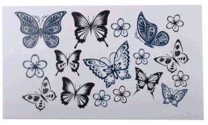 Sexy Butterfly Body Temporary Tattoo Sticker Art Tattoo Sticker pictures & photos
