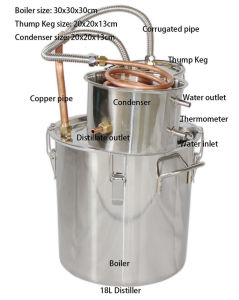 Easy Operating Moonshine Still Kingsunshine Micro Beer Alcohol Distillation Equipment pictures & photos