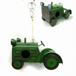 Hot Garden Hanging Decoration Metal Tractor Birdhouse Craft pictures & photos