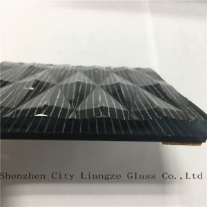 Laminated Glass/Art Glass/Silk Printed Glass/Safety Glass with Black-Mirror for Decoration pictures & photos