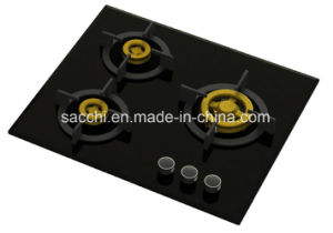 Supreme Elite 3 Brass Burner Gas Hob (8mm Glass) pictures & photos