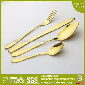Good Quality Stainless Steel Tableware Set Gold Plating Flatware pictures & photos