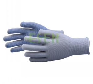 PVC Polka Dots Gloves/PVC Dotted Cotton Working Gloves/Work Glove with PVC DOT pictures & photos