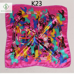 Hot Sale 50*50cm Satin Silk Cravat Printed Fashion Scarf for Gift pictures & photos