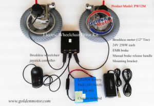 8, 10, 12 Inch Power Electric Wheelchair Conversion Kits pictures & photos