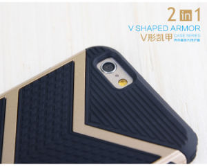 2 in 1 V Shvped Armor Case Series Shockproof Mobile Phone Case pictures & photos