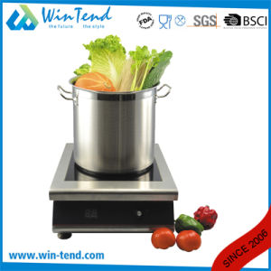 Stainless Steel Heat Conduction Impact Bonding Sandwich Type Combine Bottom Stock Pot with Solid Handle pictures & photos