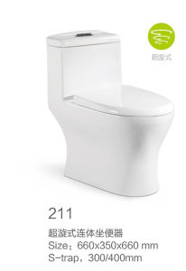 211 Siphonic One-Piece Toilet New Model pictures & photos
