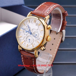 Special Designing Quartz Men′s Watch with Genuine Leather Strap Fs660 pictures & photos