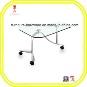 Furniture Hardware Parts Mobile Dining Table Base Leg Aluminum pictures & photos