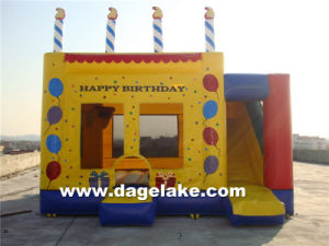 Inflatable Happy Birthday Bouncy Slide Combo, Inflatable Jumping Bouncer pictures & photos