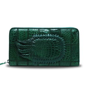 Men Luxury Wallet Genuine Crocodile Leather Clutch Travel Wallet pictures & photos