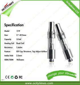 Double Coil 0.5ml C19 Glass Cbd Oil Cartridge E Cigarette pictures & photos