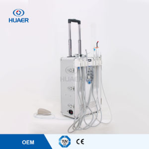Portable Dental Unit with 550W Built-in Air Compressor Dental Equipment pictures & photos