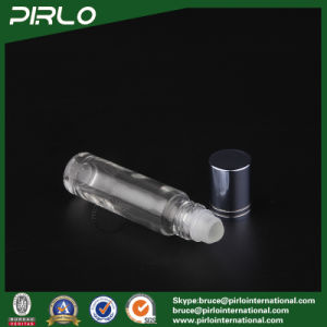 10ml Clear Glass Roll on Bottle with Glass Roller and Blue Cap pictures & photos