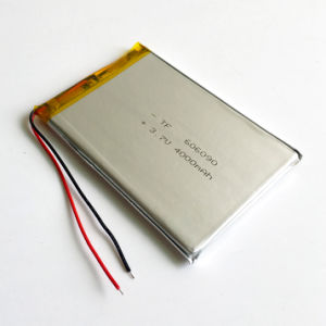 3.7V 4000mAh 606090 Polymer Lithium Lipo Rechargeable Battery for GPS PSP DVD Pad E-book Tablet PC Power Bank pictures & photos
