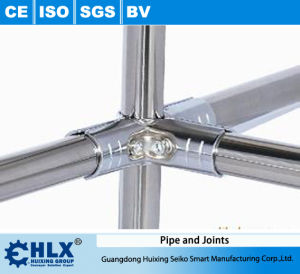 Stainless Steel Pipe for Mobile Material Rack Hlx-PP006 pictures & photos