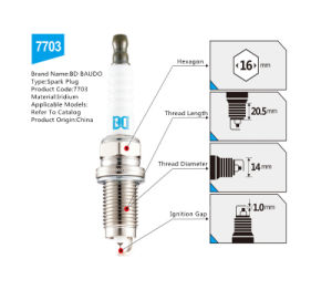China Factory Low Price Bd-7703 Iridium Spark Plug pictures & photos