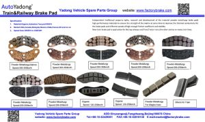 G/D Super Speed Train Brake Pad Powder Metallurgy (Alpine) Speed: 300-350km/H pictures & photos