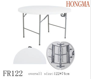 4FT Folding in Half Round Table Fr122 Dining Fold Table pictures & photos