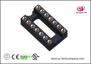 2.54mm IC Socket, Row of Pitch 7.62mm Connector pictures & photos