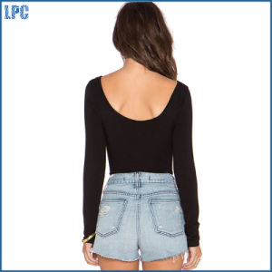 New Fashion Necklines Sexy Short T Shirt pictures & photos