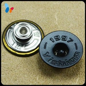 Custom Flatback Style Metal Jeans Button with a Hole Cap pictures & photos