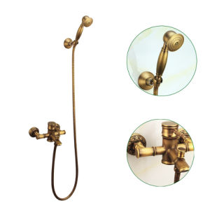 FLG Antique Bamboo Faucet Bathroom Basin Water Shower Set pictures & photos