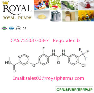 Regorafenib CAS: 755037-03-7 Purity 99% Produced From GMP Manufacturer pictures & photos
