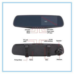 Dash Cam Auto Dual Lens Camera Mirror Car DVR pictures & photos