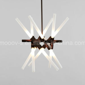 European Adjustable and Rotatable Transformers Metal Branch Glass Pipe LED Herringbone Fork Pendant Lamp
