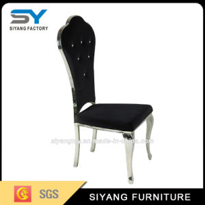 Stainless Steel Furniture Black Leather Restaurant Chair pictures & photos