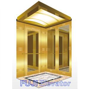 FUJI Custom Passenger Elevator for Sale (Titanium & Etched decoration inside) pictures & photos