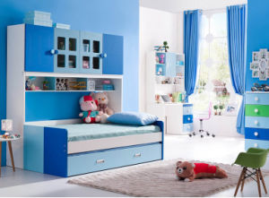 Kids Furniture Wooden Bunk Bed with Bookcase (HC801) pictures & photos