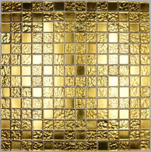 Golden Mosaic, Glass Mosaic, Crystal Mosaic Tile for Project